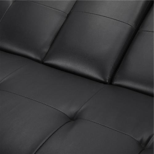 Faux Futon Sofa Bed Recliner Couch Sleeper FULL Loveseat