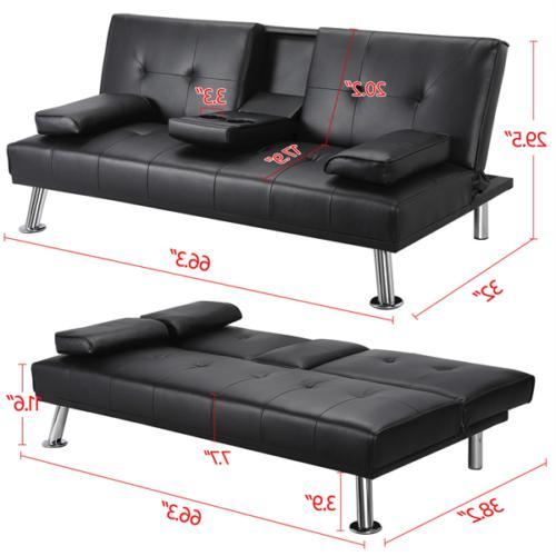 Faux Futon Sofa Bed Recliner FULL Convertible