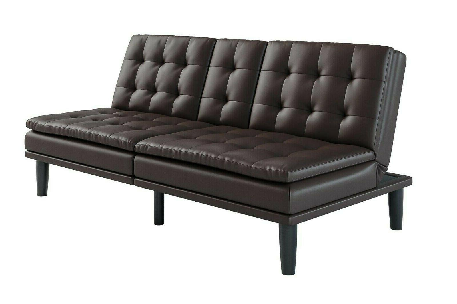 Sofa Bed Couch Futon Leather Style
