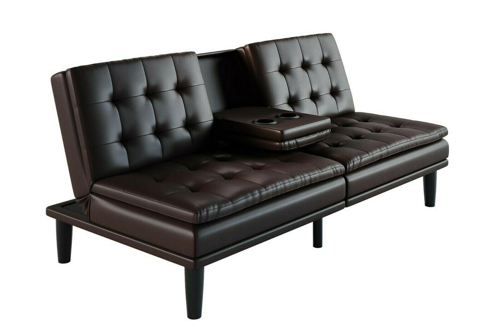 Sofa Bed Futon Leather Style