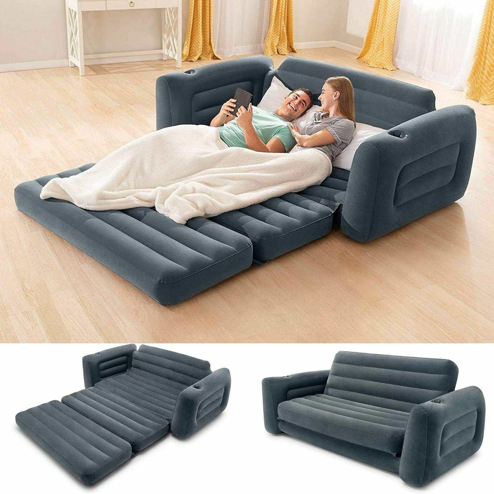 Sofa Bed Sleeper Queen Size Inflatable Air Folding Futon Con