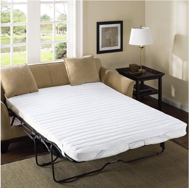 white pull out sofa queen size bed