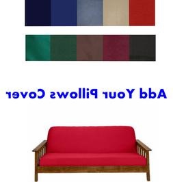 Made In USA 100% High Quality Solid Color Futon Cover Case!