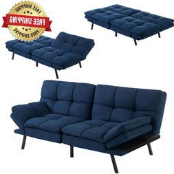 Memory Foam Futon Foldable Sofa Sleeper Convertible Bed Couc