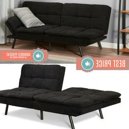 memory foam futon sleeper sofa bed couch