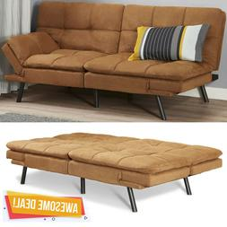 Memory Foam Futon Sofa Bed Couch Sleeper Convertible Foldabl