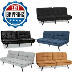 Memory Foam Futon Sofa Bed Couch Sleeper Convertible Foldabl