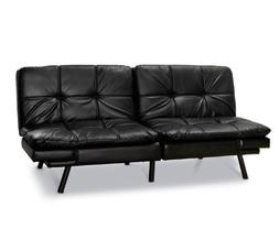 Memory Foam Futon Sofa Bed Mattress Black Leather Home Livin