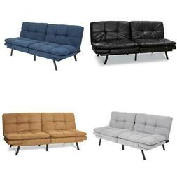 Faux Leather Sofa Bed Full Size Memory Foam Sleeper Converti