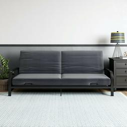 Mainstays Metal Arm Futon, Black Metal Frame
