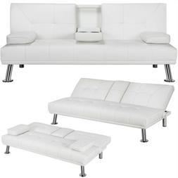 modern futon sofa bed faux leather modern