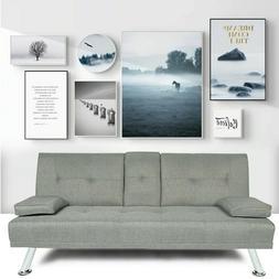 Modern Sofa 3 Seats Futon Sofa Bed Set