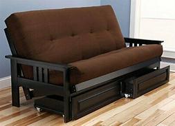 Kodiak Furniture MontereyFrame/BlackFinish/SuedeChocolateMat