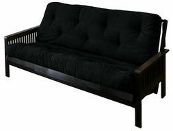 Mozaic Black Queen Size 5-inch Futon Mattress
