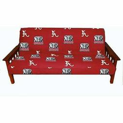 """NCAA Alabama Tide Futon Cover, Full  Size Fits 6"""" and 8"""" Mat"""