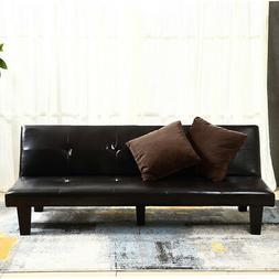 NEW Futon Sofa Bed Convertible Couch Loveseat Dorm Sleeper L