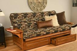 NEW - Peter's Cabin FUTON COVER - Full Size MADE IN USA Wild