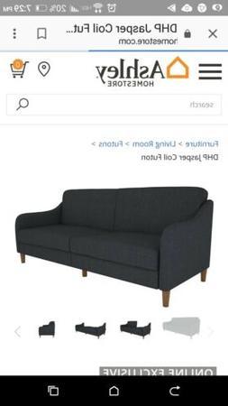 New. Sofa, reclines bed, navy color