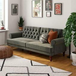 Novogratz Upholstered Cassidy Futon- Convertible Sofa Bed- G