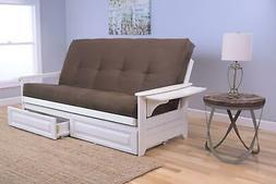 Kodiak Furniture Phoenix Frame/Antique White Finish/Suede Ch