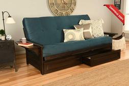 Kodiak Futons Phoenix Sofa Bed, Full, Suede Navy