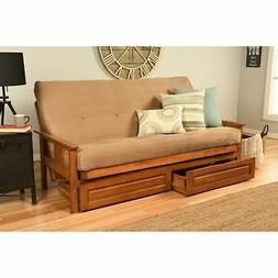 Porch & Den Kern Honey Oak Futon Set Brown Full
