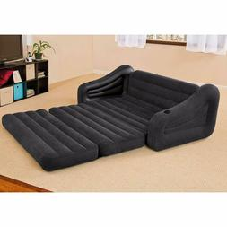 Queen Inflatable Bed Pullout Sofa Sectional Sleeper Futon Lo