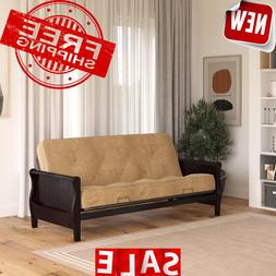Reclining Sofa Bed Futon Solid Wood Arm Couch With Full Size