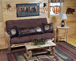 Rustic Log Futon! Available in 3 sizes! Love seat, Full and
