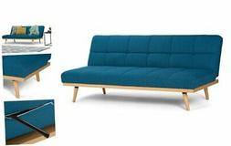 Simpli Home Spencer Contemporary 72 inch Wide Sofa Bed in Me
