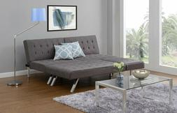 Sofa Sectional Sleeper GRAY Chaise Lounge Linen Bed Converti