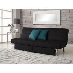 DHP Sola Storage Futon with Microfiber Upholstery, Black