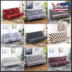 Stretch Sofa Bed Cover Full Folding Armless Elastic Futon Sl