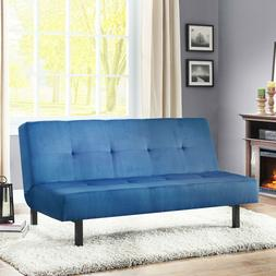 Tufted Futon Sofa Bed Convertible Lounger Contemporary Style