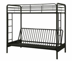 Dhp Twin-Over-Futon Convertible Couch And Bed With Metal Fra