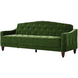 Novogratz Vintage Tufted Sofa Sleeper II