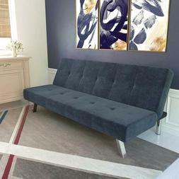 DHP Zorro Upholstered Futon Converts into Full Size Sleeper,